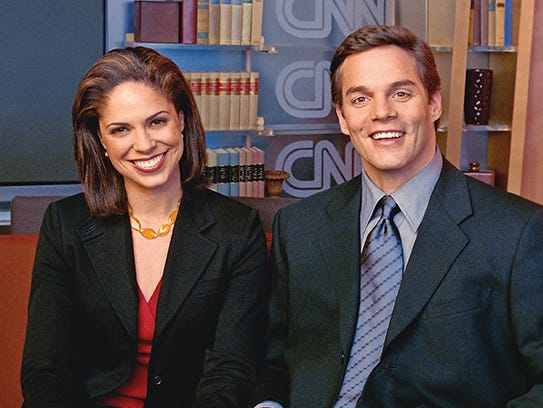 CNN's morning news anchors Soledad O'Brien and Bill