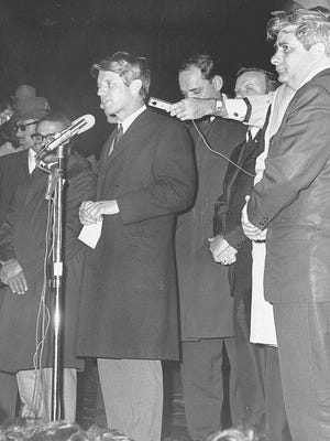 Robert F. Kennedy breaks the awful news, Indianapolis, April 4, 1968.