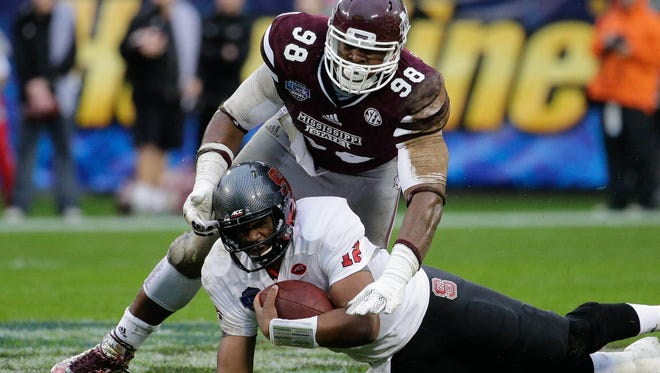 Mississippi State defensive lineman Chris Jones declared for the NFL Draft on Tuesday.