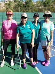 Tennis Scramble participants