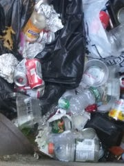 Trash found packed into a cistern at Pine Meadow Lake