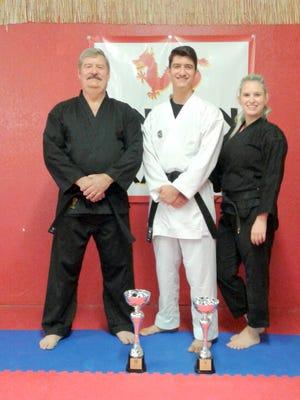 From left, are Sensei Trent Petty, Sensei Chad Petty and Sensei Chelsea Been of Oni Ken Karate.