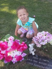 Nichole Santee-Smith's daughter, Makenna, at her mother's
