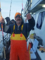 Gene Murphy, Toms River, with a pair of mackerel he