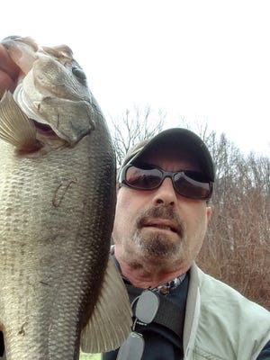 A fine largemouth bass Bob Ski landed at Davidson's Mill Pond in Middlesex County.