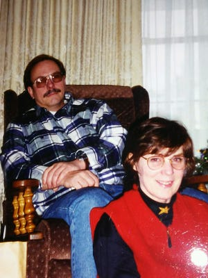 Janet and Mark Davies on Christmas Day, 1996. The Howell couple died in a plane crash less than a year later. Their plane and remains were not discovered in the U.P. until this summer.