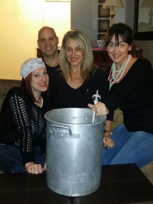From the left Erica Adams, Rob Martin, Pamela Vidrine and Lindsie Vidrine Thomas.