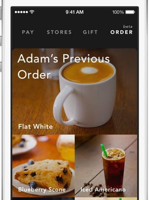 Starbucks customers can order and pay directly from the app.