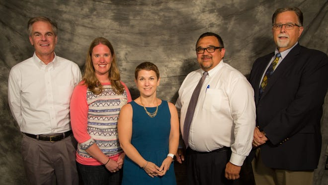 Sioux Falls school board members from left to right: Doug Morrison, Carly Reiter, Kate Parker, Todd Thoelke, Kent Alberty
