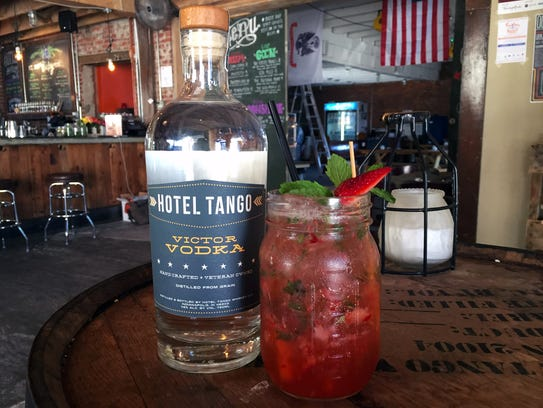 The Rosales cocktail at Hotel Tango Whiskey uses Victor