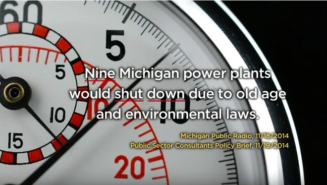 """Frame grab of the 31 second commercial titled, """"Twenty Five"""" by Citizens for Michigan's Energy Future."""