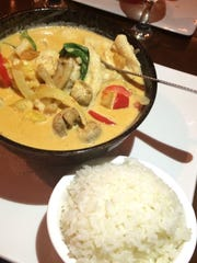 Red curry with chicken at Wasabi Chi, $12.95