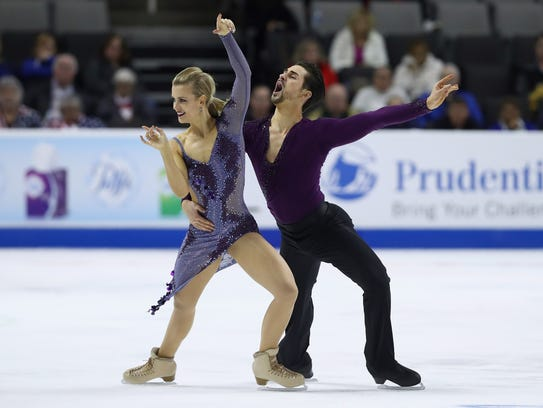 Madison Hubbell and Zachary Donohue, who represent the Lansing Skating Club, were in second place with 79.10 points after Friday's short dance portion.