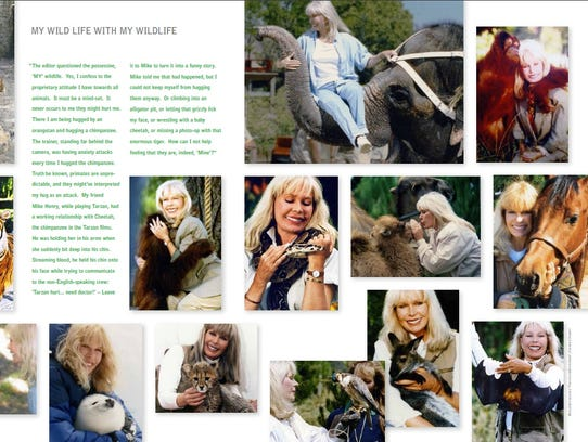 Sample page from Loretta Swit book.