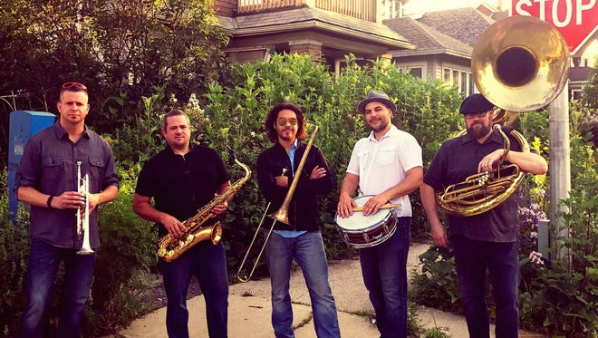 The Hot and Dirty Brass Band, nominated for 2018 New Artist of the Year, will play Aug. 16 at the Thelma Sadoff Center for the Arts.