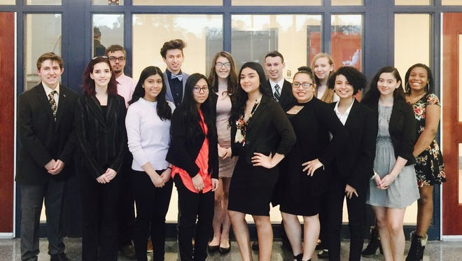 Cumberland County Technical Education Center's Model Congress team recently participated in a two-day, student led government simulation at Rider University.