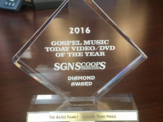 The Gospel Music Today Video of the Year Diamond Award.