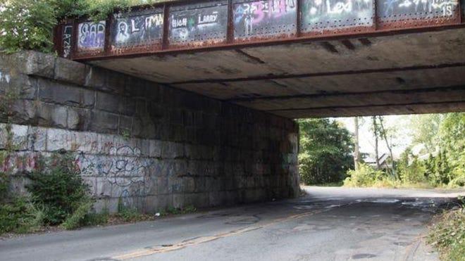 The Bacon Street Bridge in Wellesley.