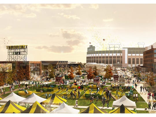 The Green Bay Packers' Titletown District could look