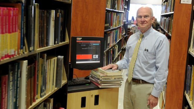 Ned Branch, executive director of Blanchard Community Library in Santa Paula, is launching a massive project this month to attach a radio tag to every book in the library to make it easier to check out and track books. He's looking for volunteers to help.