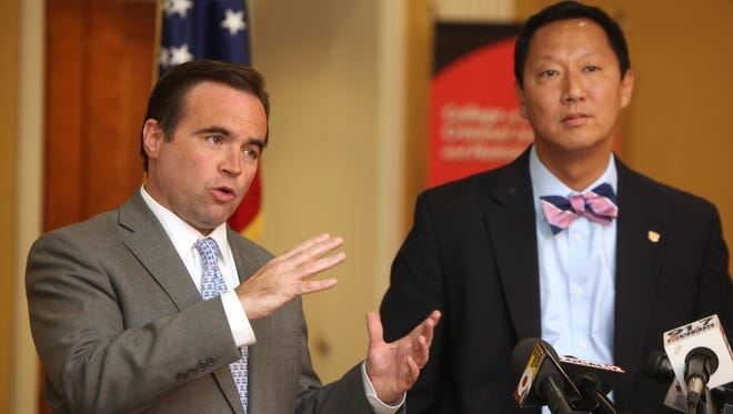 Cincinnati Mayor John Cranley addressed the press Wednesday alongside University of Cincinnati President Santa Ono about a UC police officer who shot and killed a man during a traffic stop.