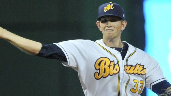 Biscuit Cameron Seitzer isn't the prototypical shortstop with his 6-foot-5 height.