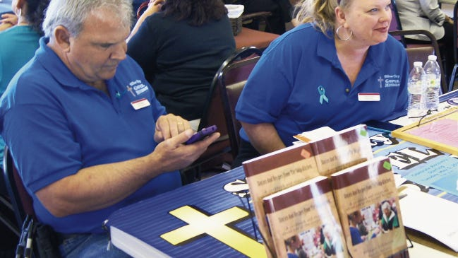 Volunteers from the Silver City Gospel Mission participated in the Silver City Woman's Club Community Outreach Day on April 18.