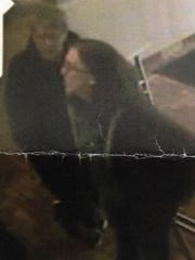 Chambersburg Police are seeking information on the man and woman pictured, in connection with a theft of an employee's gym bag from the dining room of a Burger King.