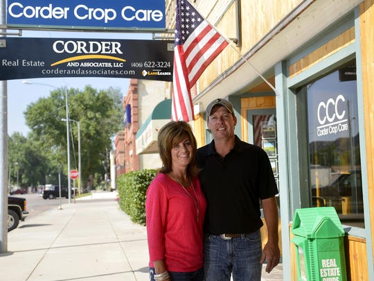 Trampus and Staci Corder of Corder and Associates stand in front of their business office in Fort Benton. See story, Page 12.