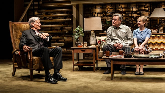 """Richard Chamberlain, from left, Bill Pullman and Holly Hunter in a scene from the production, """"Sticks and Bones."""""""