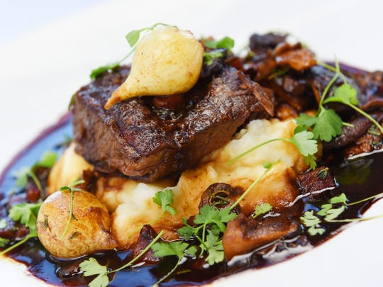 Short-rib bourguignonne will be featured on Seafood R'evolution's Réveillon menu.