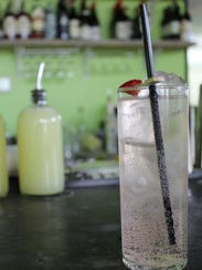 Strawberry-rosemary soda at Chartreuse Kitchen and