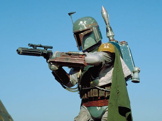Boba Fett lines up a shot in 'Return of the Jedi.'