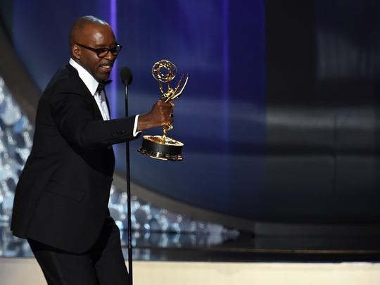 Actor Courtney B. Vance accepts Outstanding Lead Actor