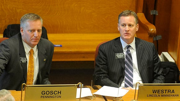 Rep. Brian Gosch and Rep. Steven Westra at the state