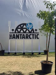 HP's Antarctic Dome on the Coachella festival grounds.
