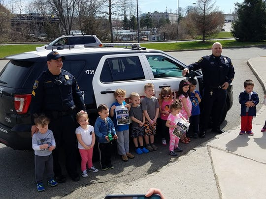 MOMS Club of Parsippany West visiting the Parsippany-Troy Hills Police Department.