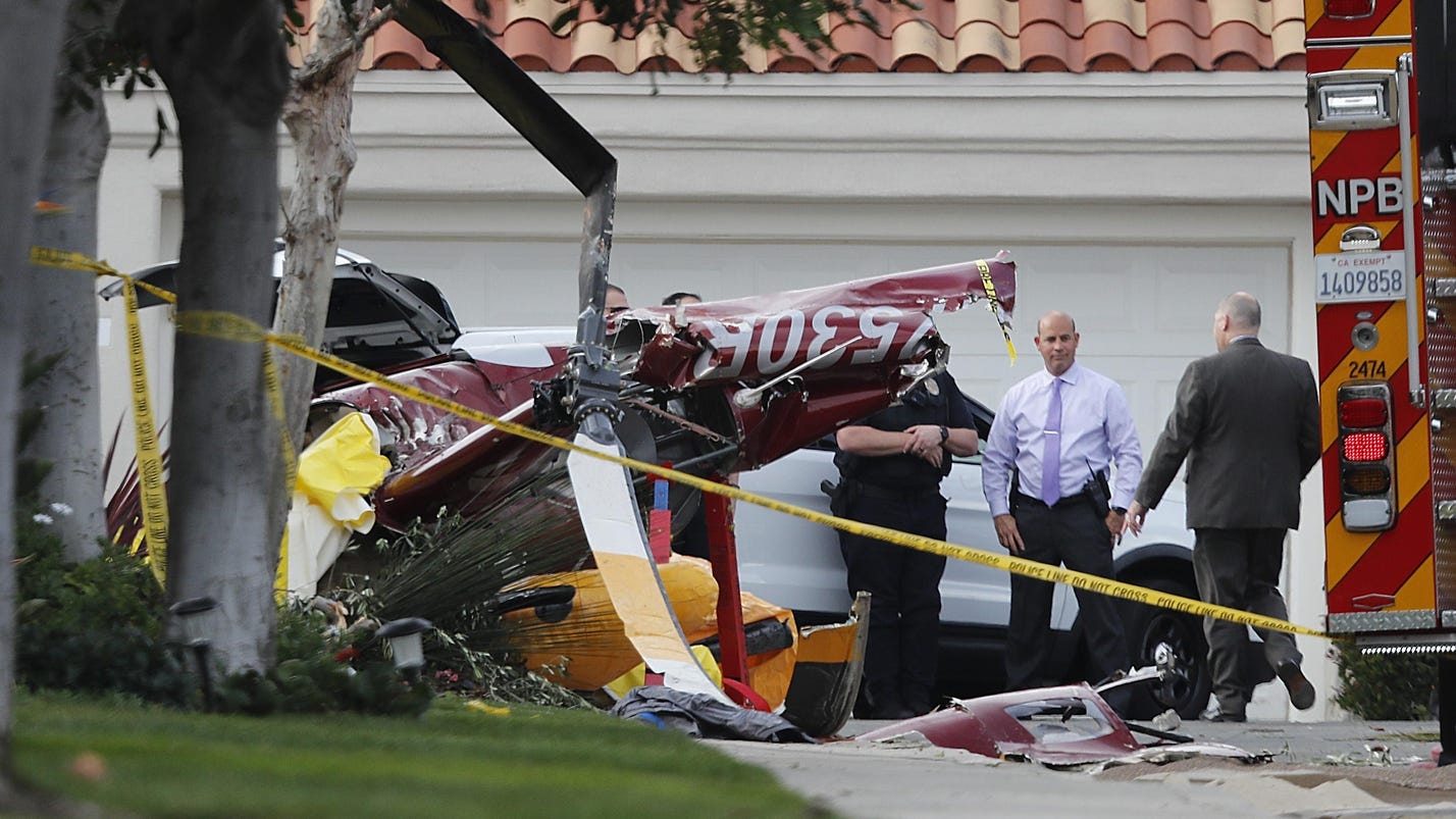 3 dead, 2 hurt as helicopter crashes into Calif. home