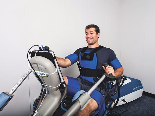Compression exercise cuffs from Vasper Systems can
