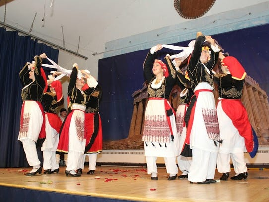 Traditional Greek folk dancing is part of the annual