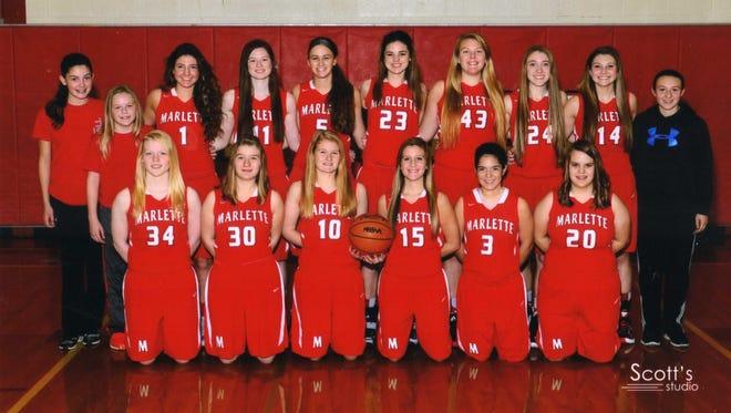 The 2015-16 Marlette girls basketball team