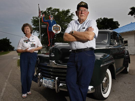 From 2008: Harry and Jan Kalbach stand with a 1947