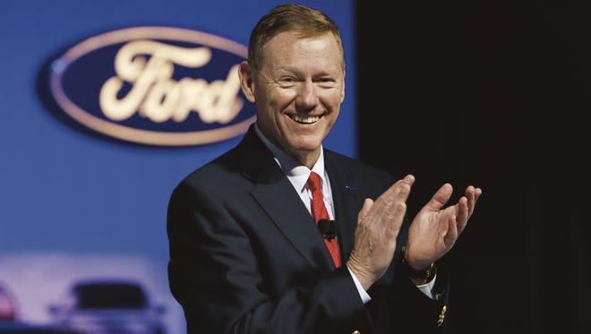 Alan Mulally at his inducted into the Automotive Hall of Fame Class of 2016.