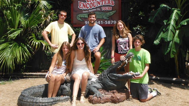 Seeing the sights as a French exchange student in Mississippi. Here in Canjun Country with the Hedgepeths. Floriane is standing, second from the right.