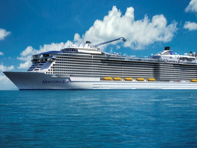 The most anticipated new cruise ship of 2014 is Royal Caribbean's 4,180-passenger Quantum of the Seas, a massive floating resort that will debut in November. Here, an artist's drawing of the ship's exterior.