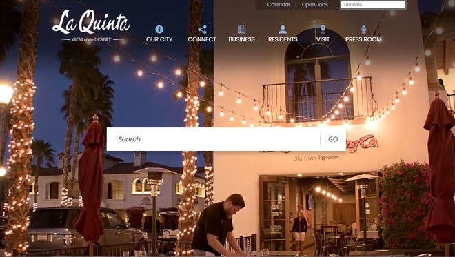 La Quinta's recently revised homepage has earned the city national recognition.