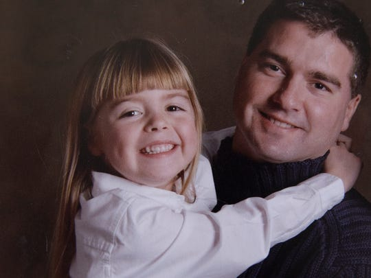 Alyssa Schrenker with her father, Marcus Schrenker.