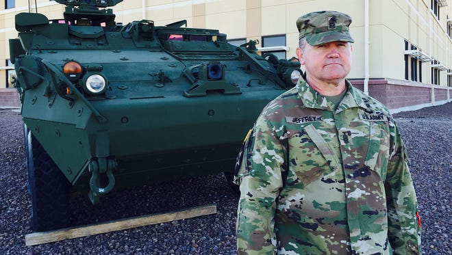 Command Sgt. Maj. Craig Jeffrey is the new senior enlisted leader for 3rd Battalion, 41st Infantry Regiment at Fort Bliss. He took over on Jan. 2 and immediately went to Joint Readiness Training Center at Fort Polk, La., with the battalion and rest of 1st Brigade.