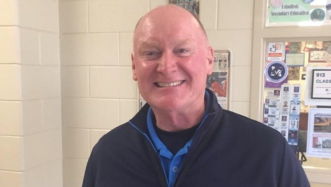 """J.L. Mann's Darryl """"Red"""" Cook, one of the founding fathers of the South Carolina High School Strength Coaches Association and the state strength meet, is now a member of the association's Hall of Fame."""
