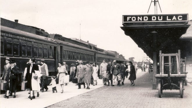 The Chicago and Northwestern depot was on Brooke Street in Fond du Lac in the 1950s.